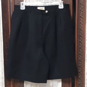 Black Talbots NWOT Pleated Front Dress Shorts